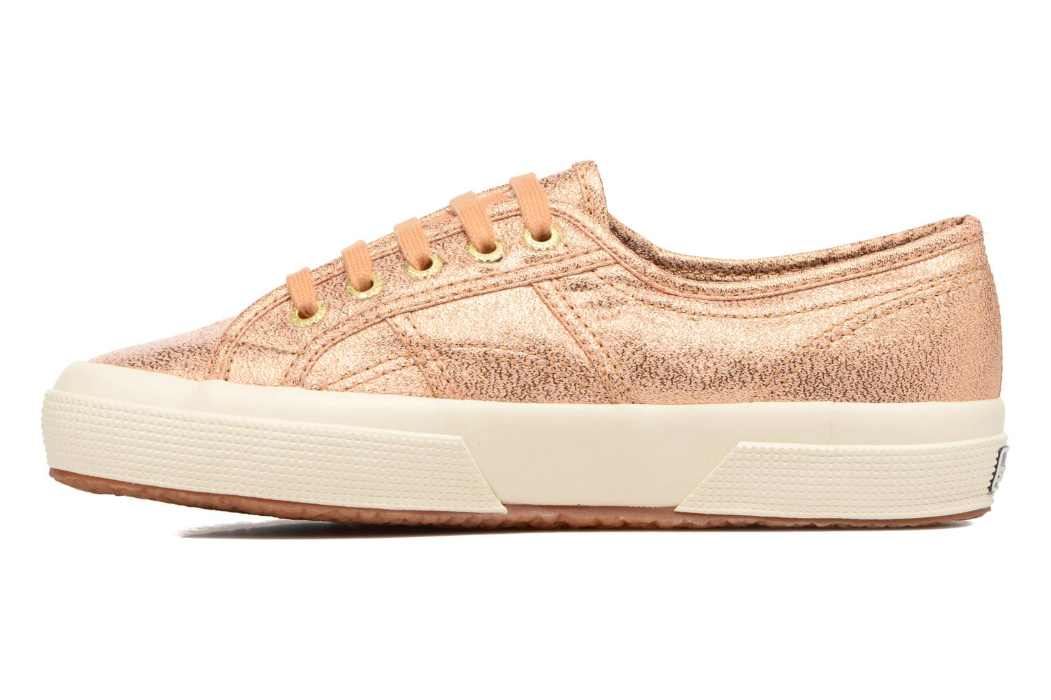 Baskets Superga 2750 Lame W Or et bronze vue face