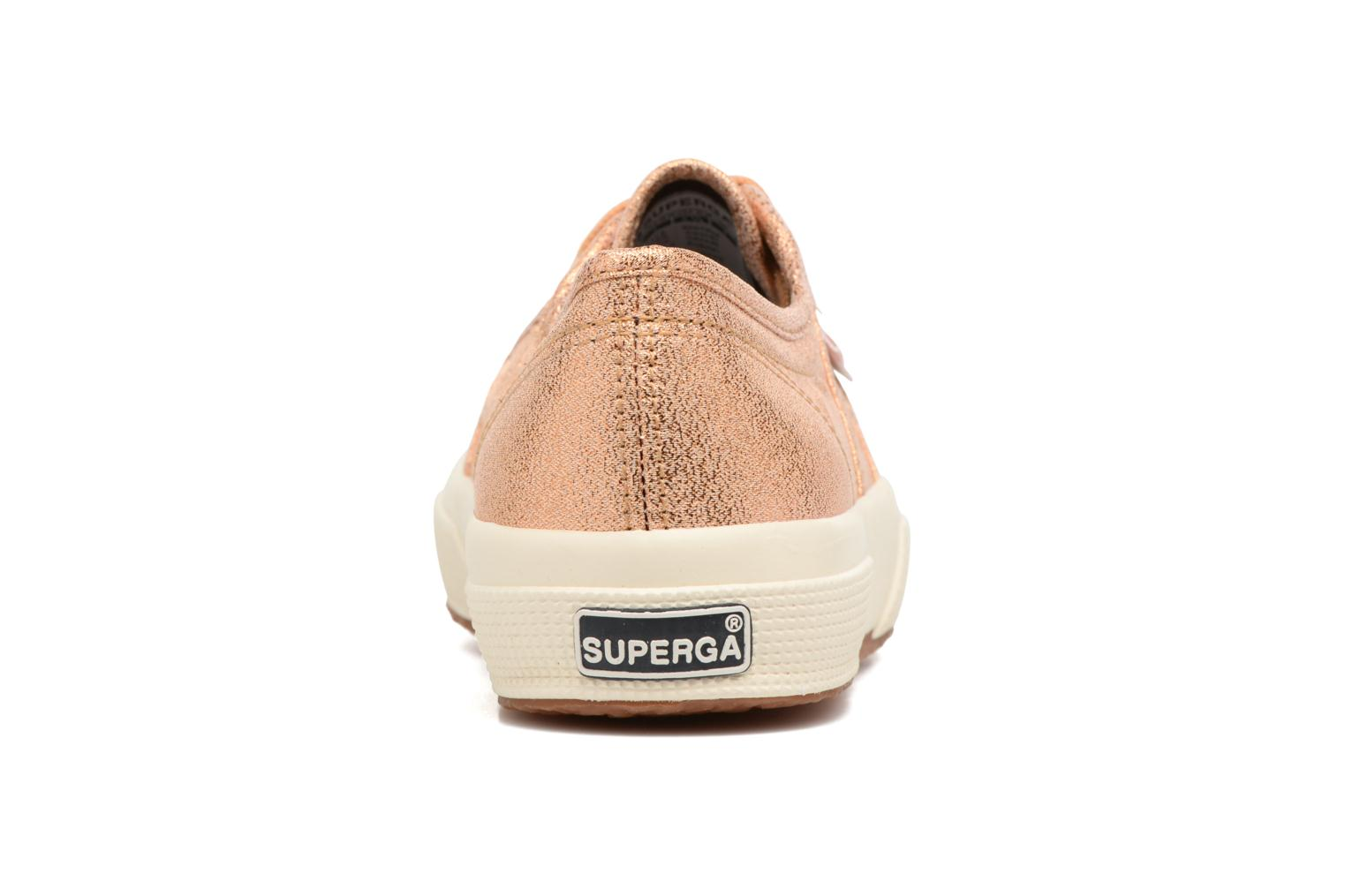 Trainers Superga 2750 Lame W Bronze and Gold view from the right