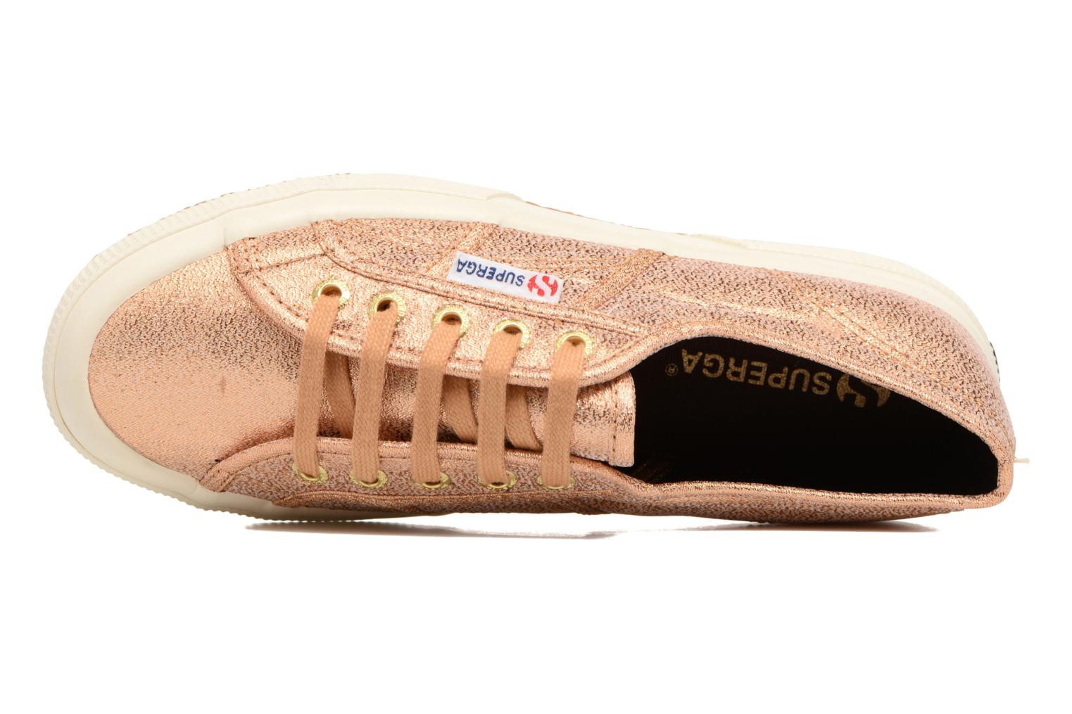 Trainers Superga 2750 Lame W Bronze and Gold view from the left