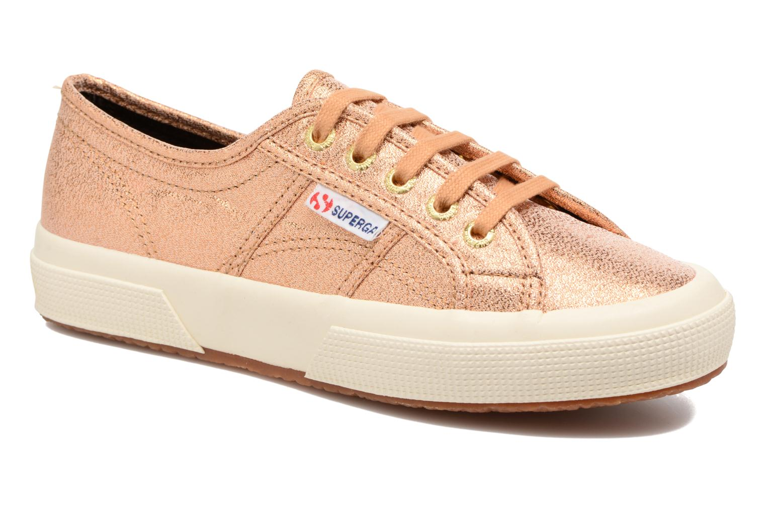 Trainers Superga 2750 Lame W Bronze and Gold detailed view/ Pair view