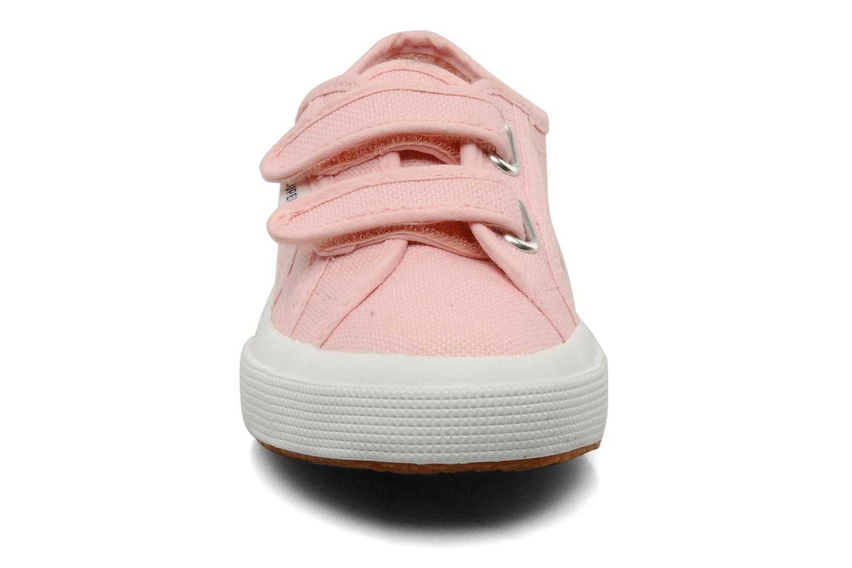 Sneaker Superga 2750 J Velcro E rosa schuhe getragen