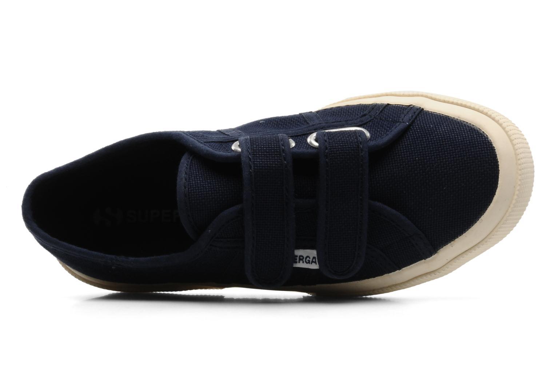 Sneaker Superga 2750 J Velcro E blau ansicht von links