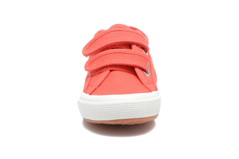 Baskets Superga 2750 J Velcro E Rose vue portées chaussures