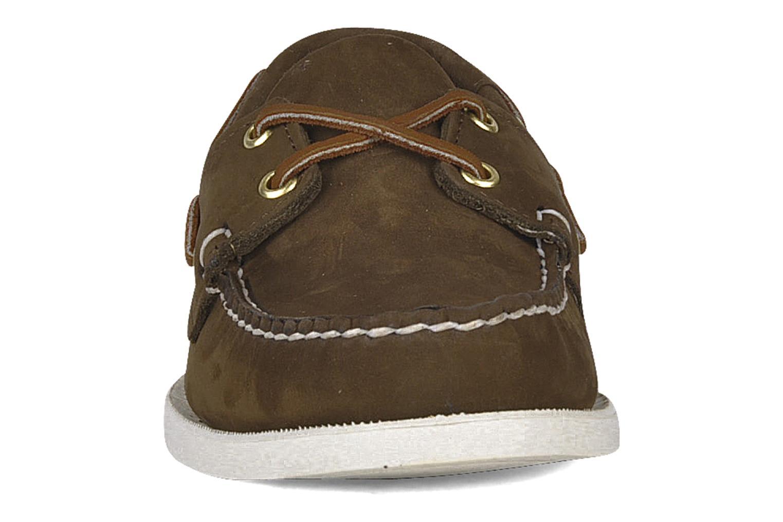 Zapatos con cordones Sebago Docksides M Marrón vista del modelo