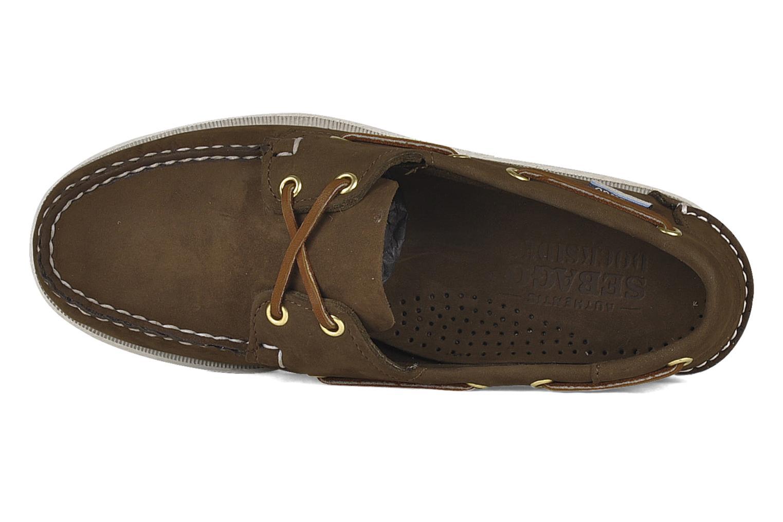 Zapatos con cordones Sebago Docksides M Marrón vista lateral izquierda