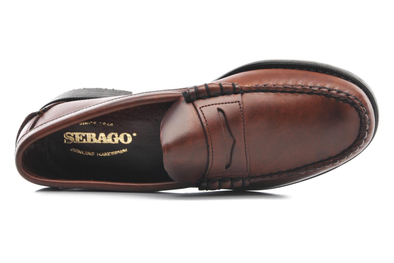 Slipper Sebago Classic braun ansicht von links