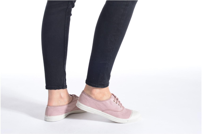 Sneaker Bensimon Tennis Lacets rosa ansicht von unten / tasche getragen