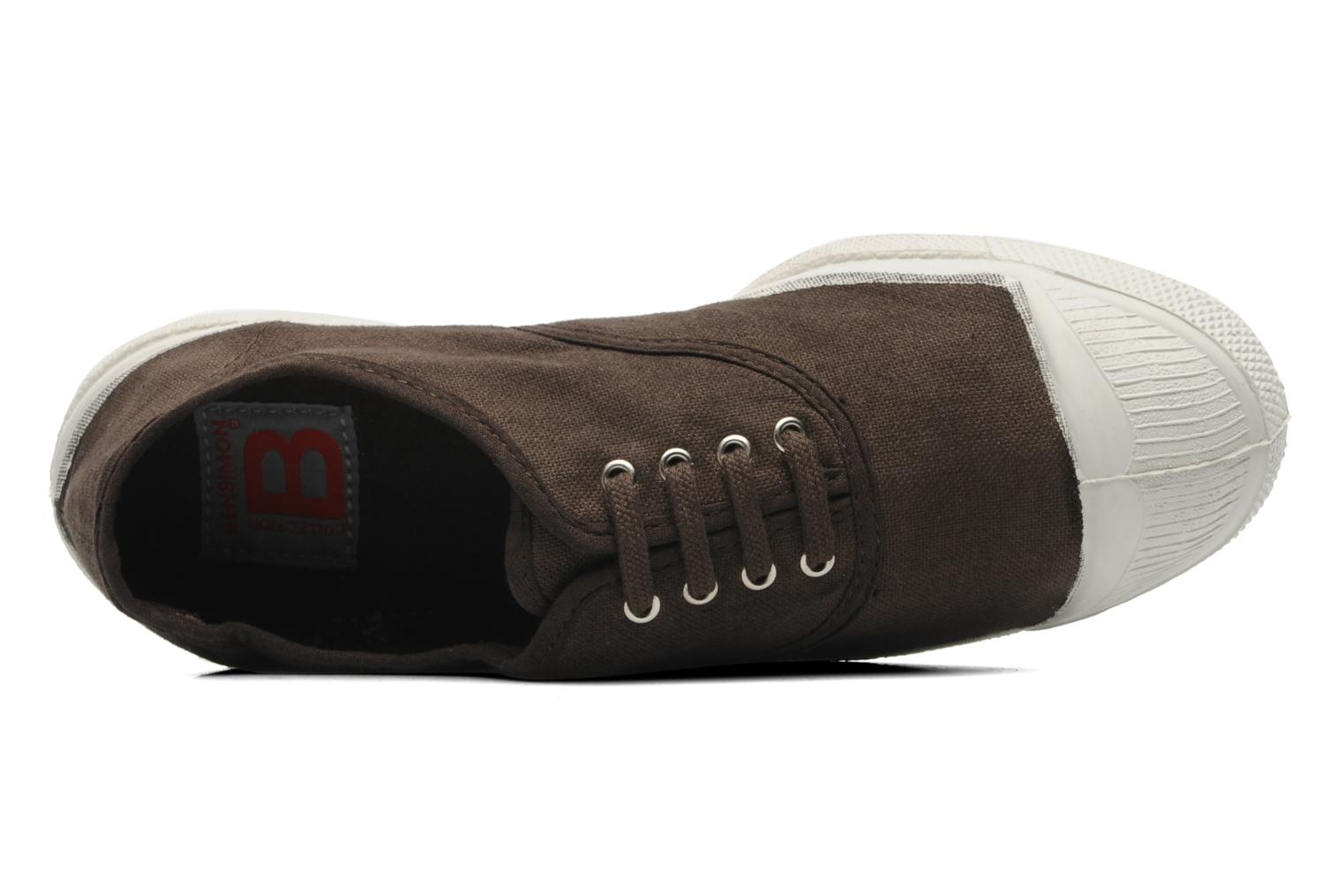 Trainers Bensimon Tennis Lacets Brown view from the left