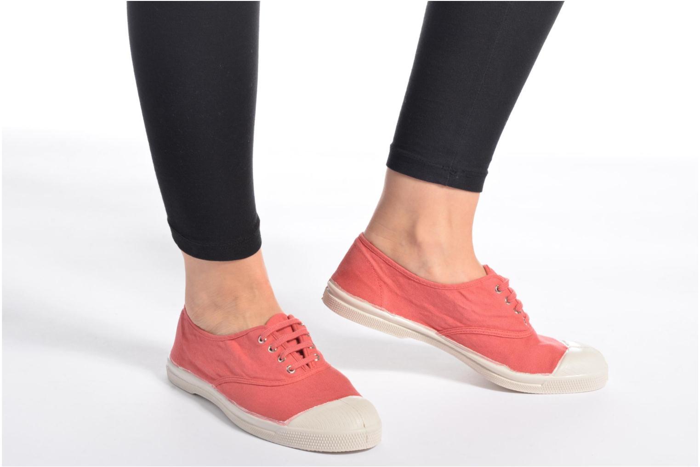 Sneaker Bensimon Tennis Lacets gelb ansicht von unten / tasche getragen