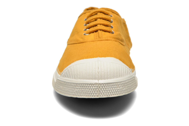 Sneaker Bensimon Tennis Lacets gelb schuhe getragen