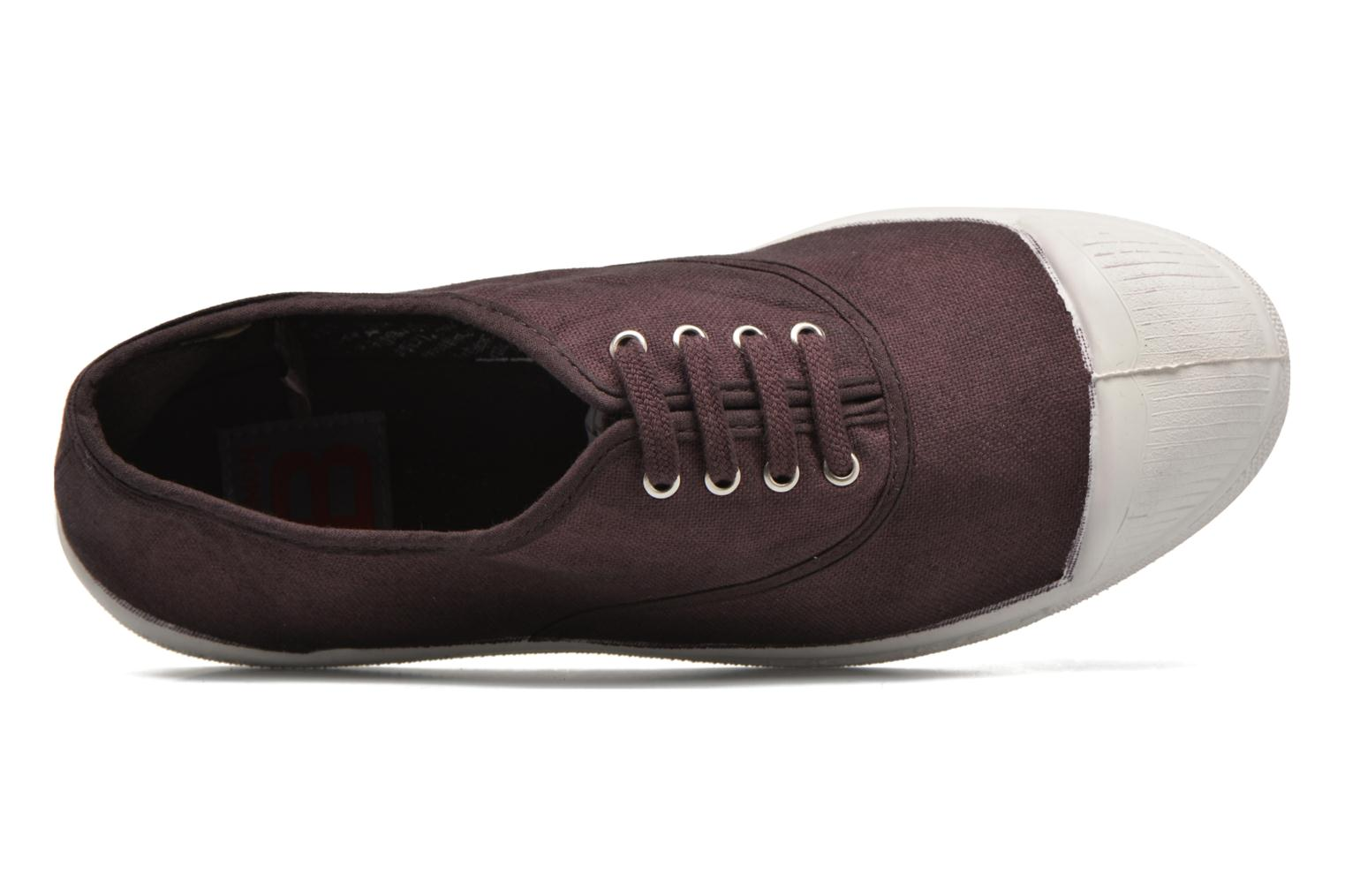 Trainers Bensimon Tennis Lacets Purple view from the left