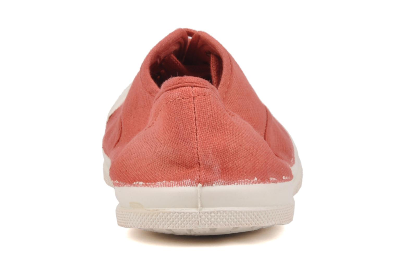 Baskets Bensimon Tennis Lacets W Orange vue droite