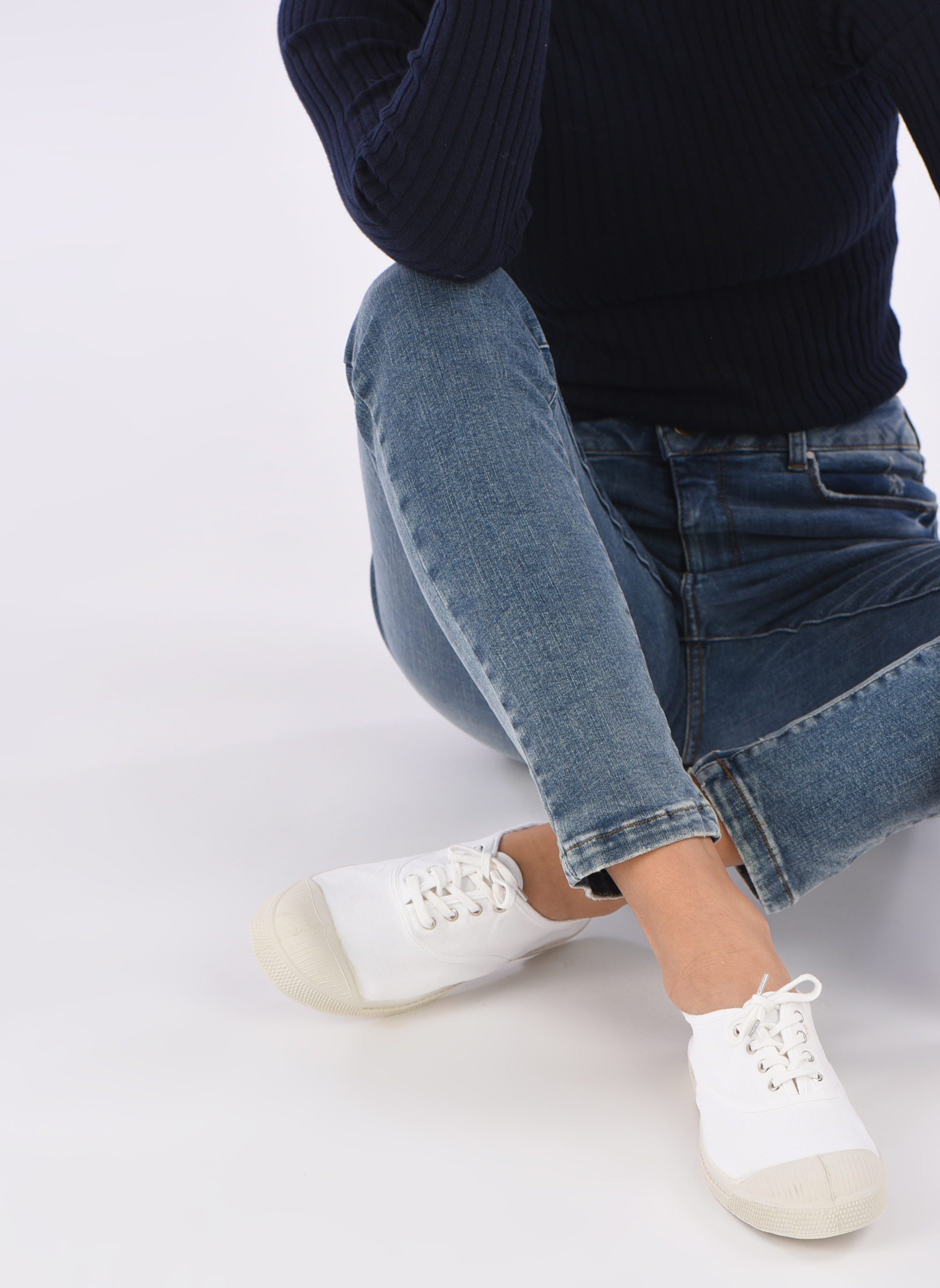 Sneakers Bensimon Tennis Lacets Wit onder