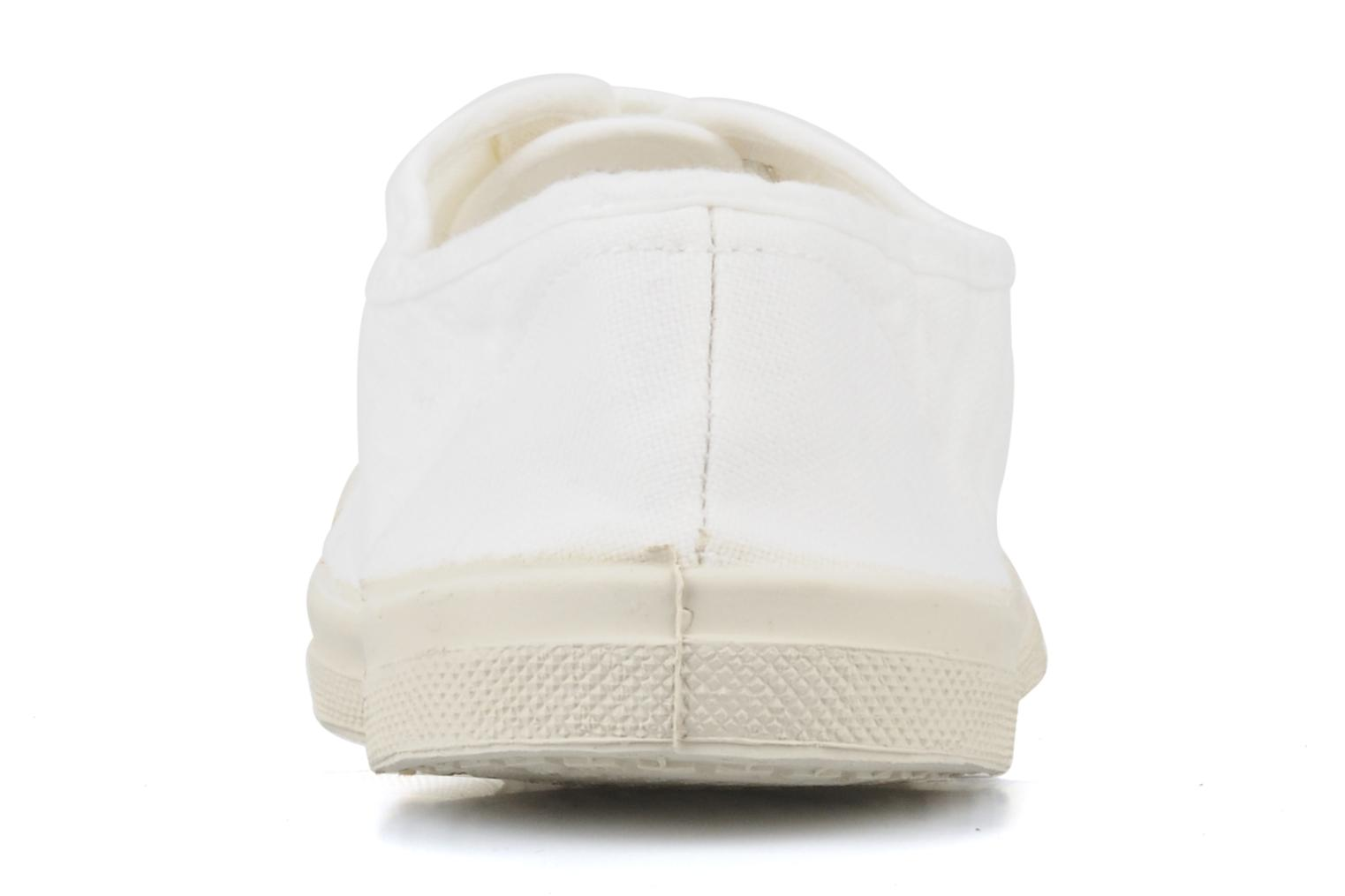 Trainers Bensimon Tennis Lacets White view from the right