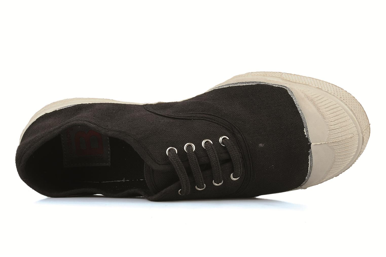Trainers Bensimon Tennis Lacets Black view from the left