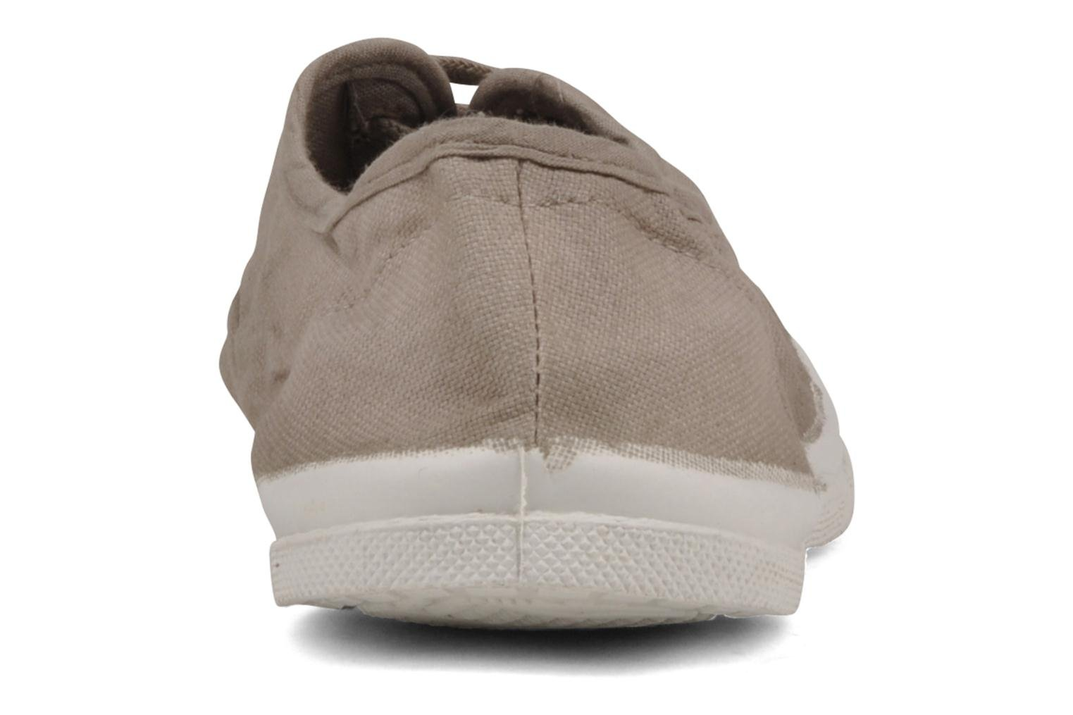 Trainers Bensimon Tennis Lacets Beige view from the right