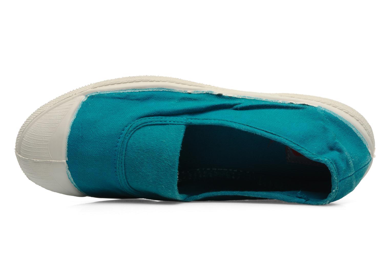 Ballerines Bensimon Tennis Elastique Bleu vue gauche