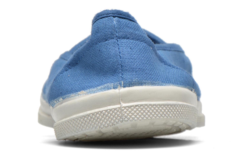 Ballerines Bensimon Tennis Elastique Bleu vue droite
