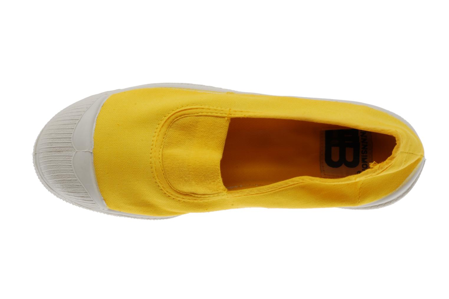 Ballet pumps Bensimon Tennis Elastique Yellow view from the left