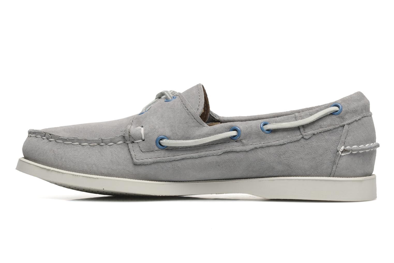 Chaussures à lacets Sebago Docksides M Gris vue face