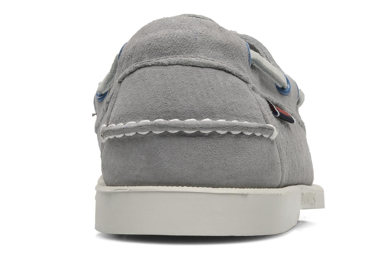 Chaussures à lacets Sebago Docksides M Gris vue droite