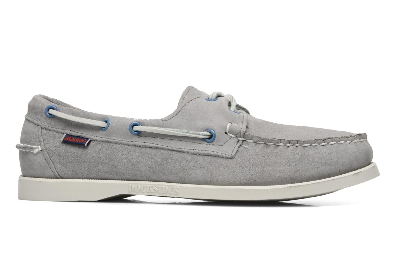 Chaussures à lacets Sebago Docksides M Gris vue derrière