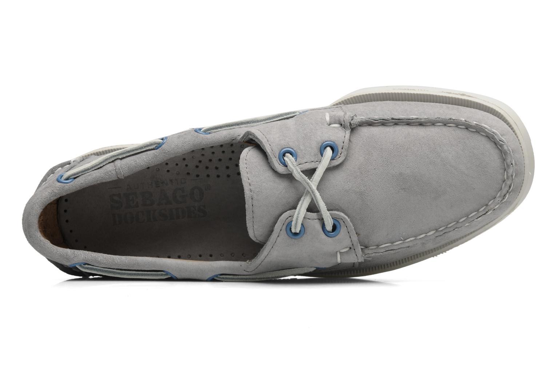 Chaussures à lacets Sebago Docksides M Gris vue gauche