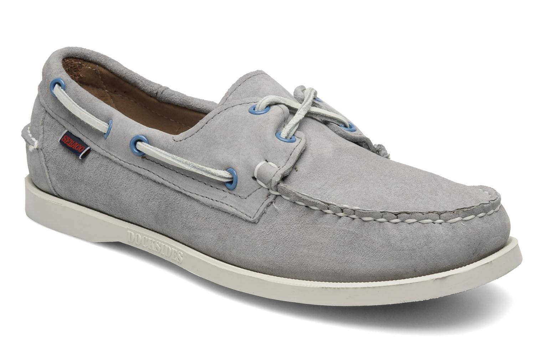 Chaussures à lacets Sebago Docksides M Gris vue détail/paire