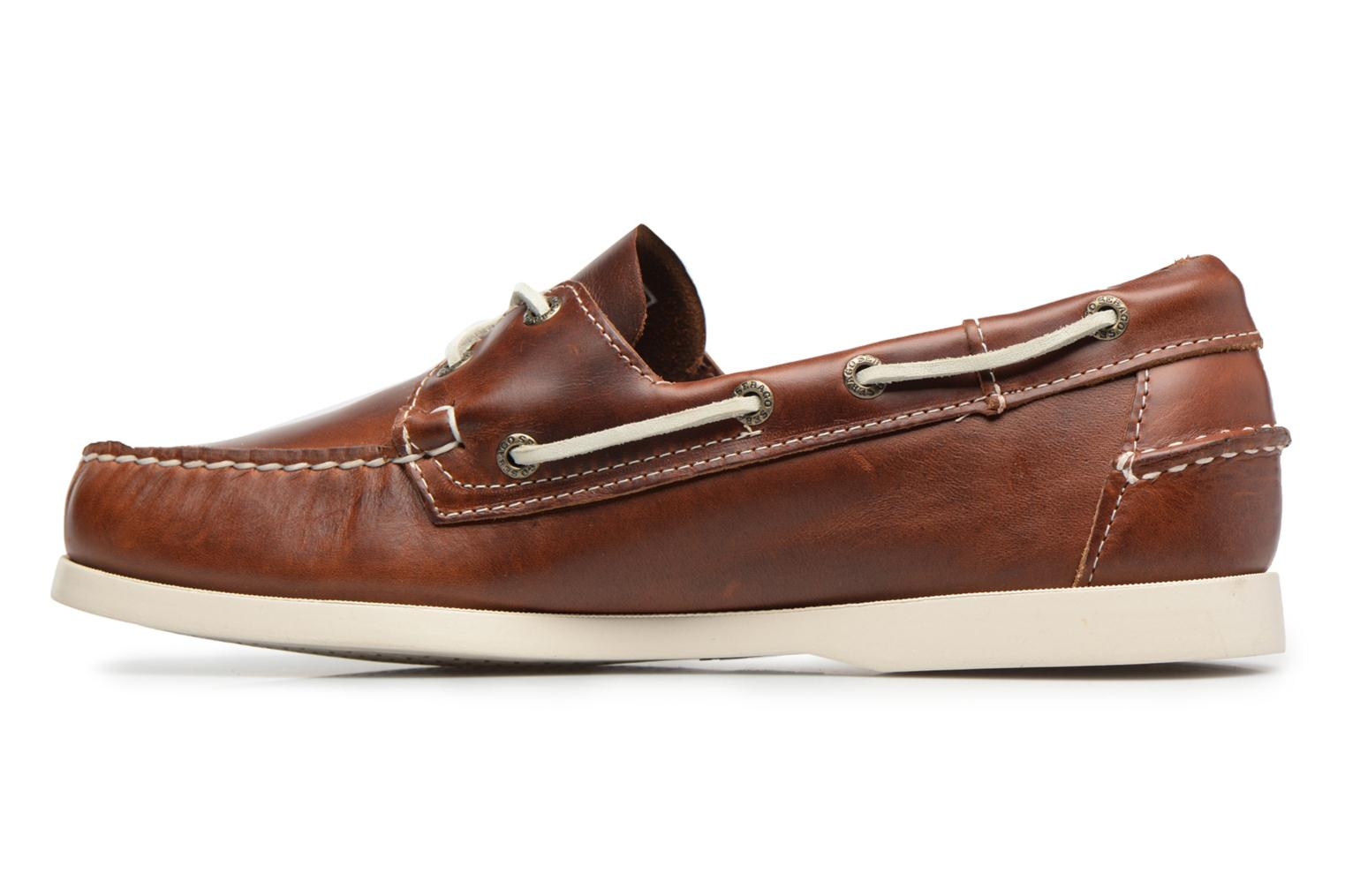 Lace-up shoes Sebago Docksides M Brown front view