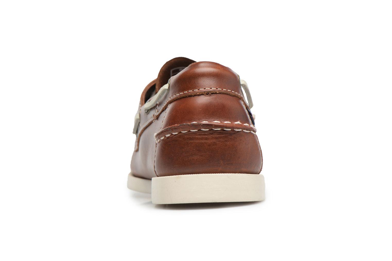 Snörade skor Sebago Docksides M Brun Bild från höger sidan