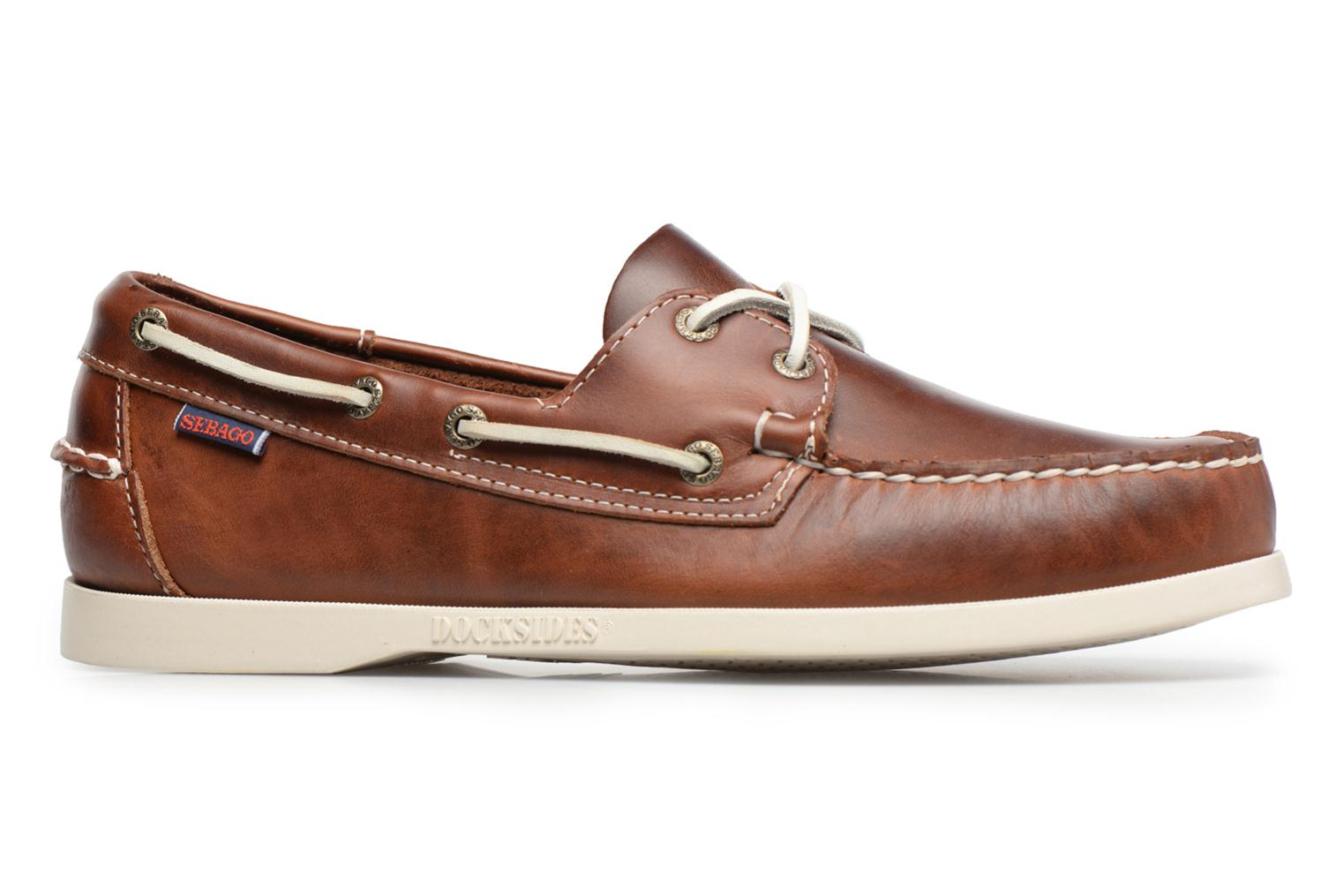 Lace-up shoes Sebago Docksides M Brown back view