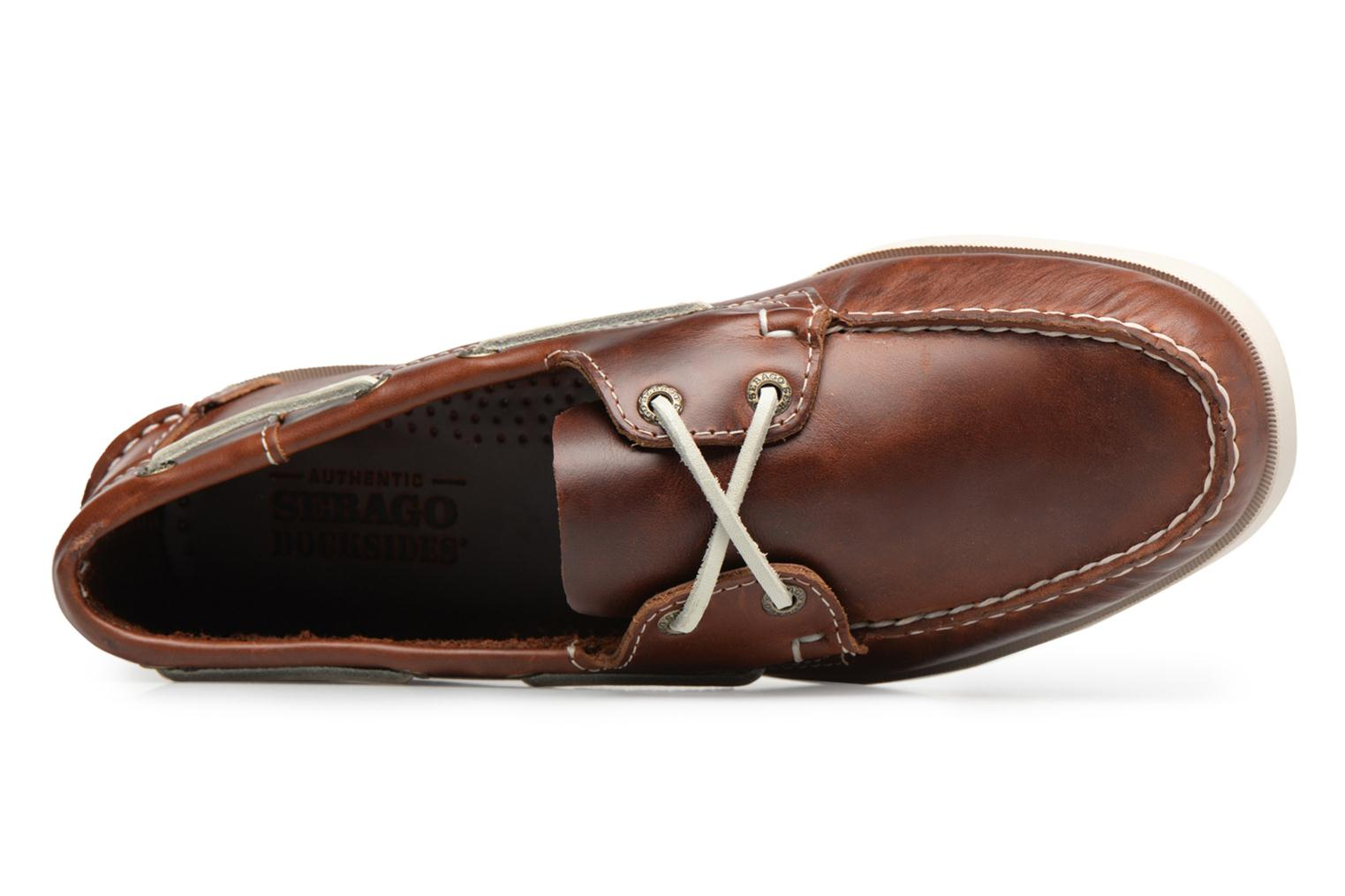 Lace-up shoes Sebago Docksides M Brown view from the left