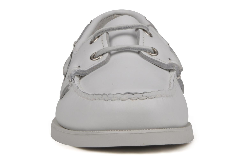 Chaussures à lacets Sebago Docksides M Blanc vue portées chaussures