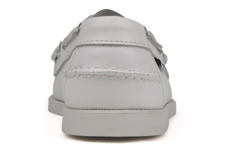 Chaussures à lacets Sebago Docksides M Blanc vue droite