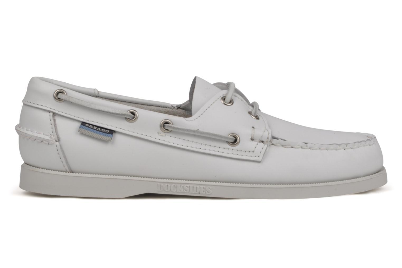 Chaussures à lacets Sebago Docksides M Blanc vue derrière