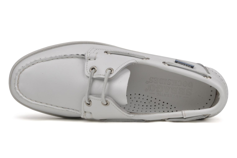 Chaussures à lacets Sebago Docksides M Blanc vue gauche