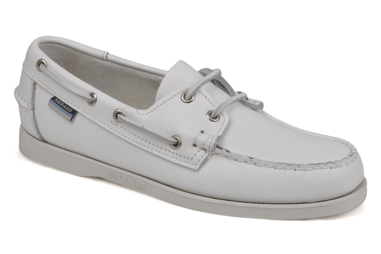 Chaussures à lacets Sebago Docksides M Blanc vue détail/paire