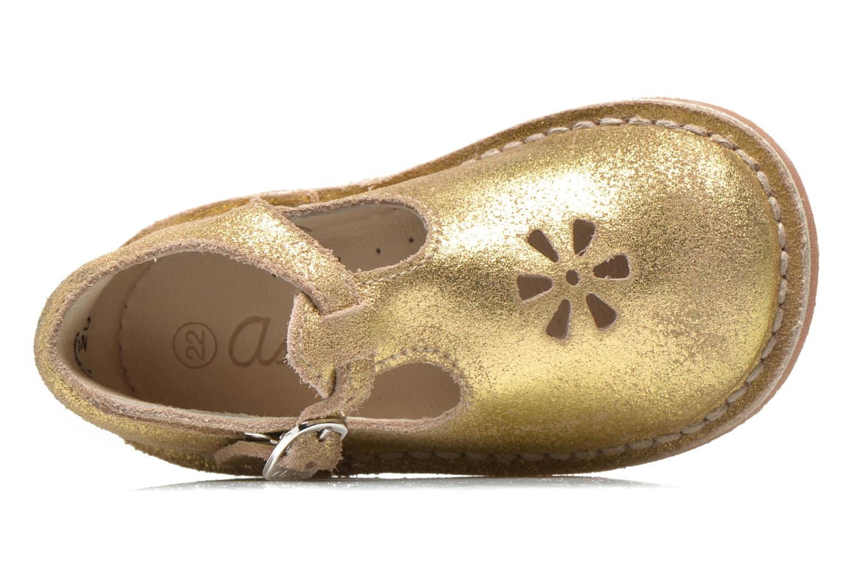 Sommerschuhe Aster Bimbo gold/bronze ansicht von links