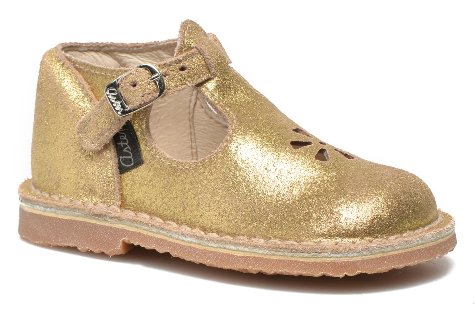Summer boots Aster Bimbo Bronze and Gold detailed view/ Pair view