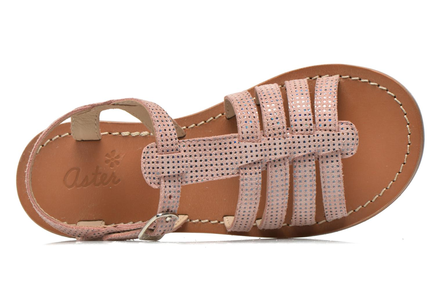 Sandals Aster Vibride Pink view from the left