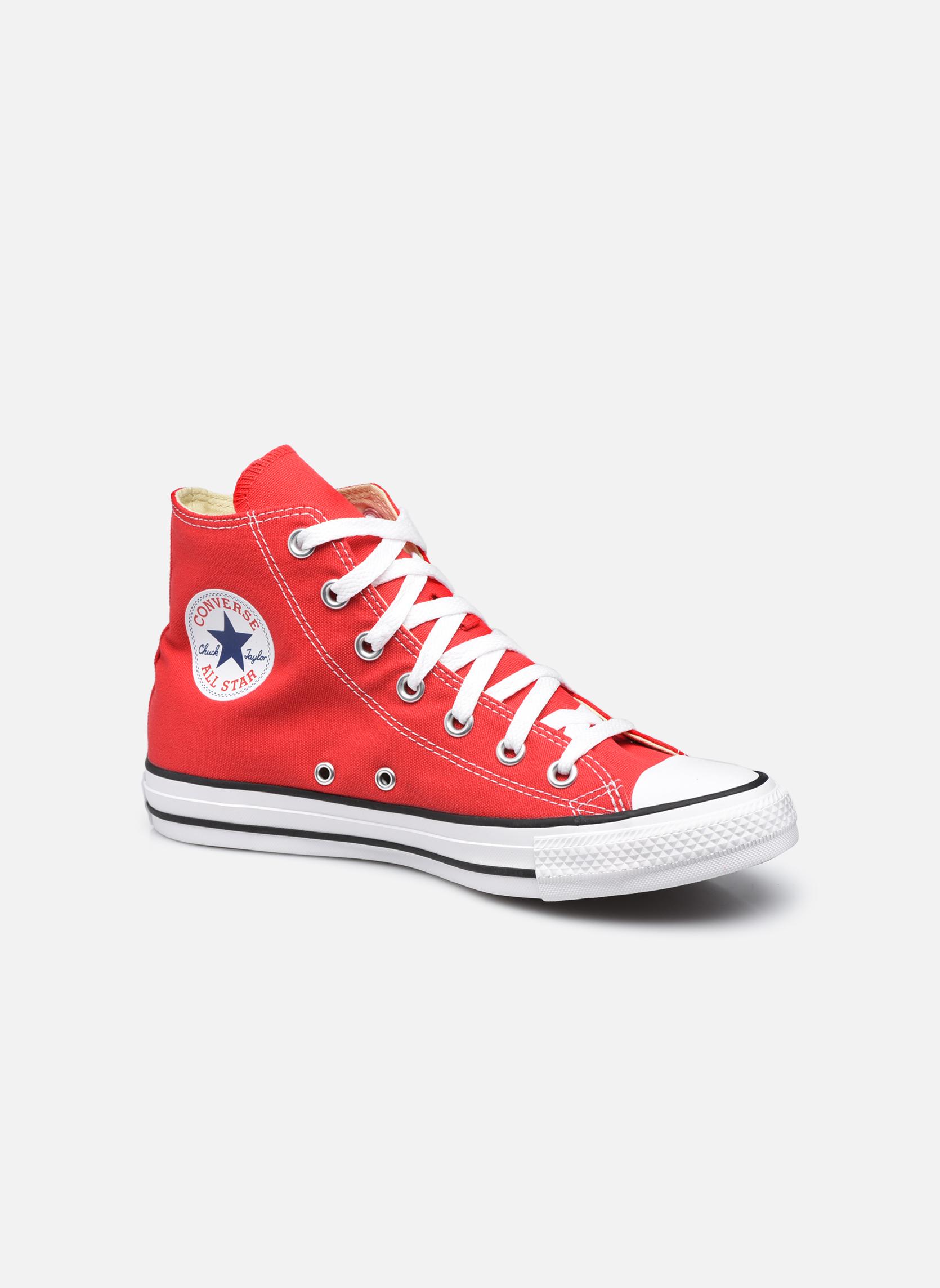 Baskets Converse Chuck Taylor All Star Hi W Rouge vue détail/paire