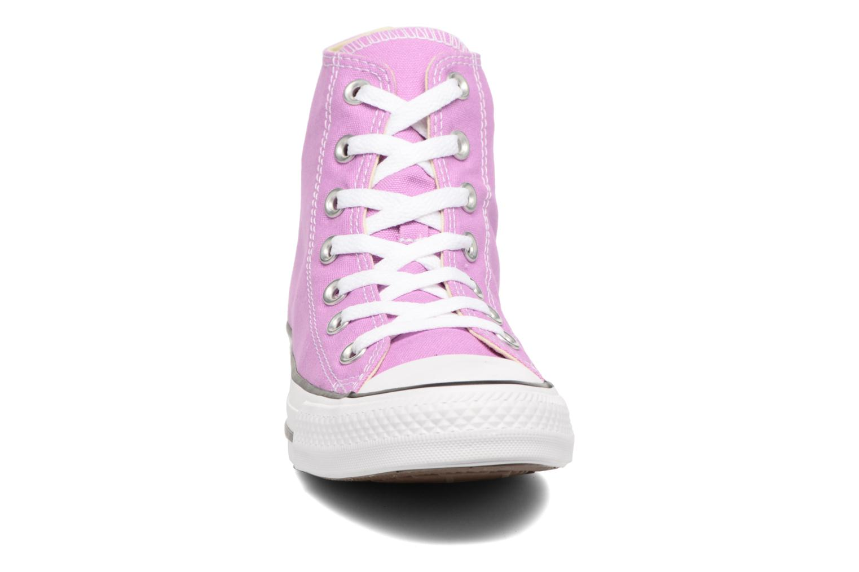 Sneakers Converse Chuck Taylor All Star Hi W Viola modello indossato