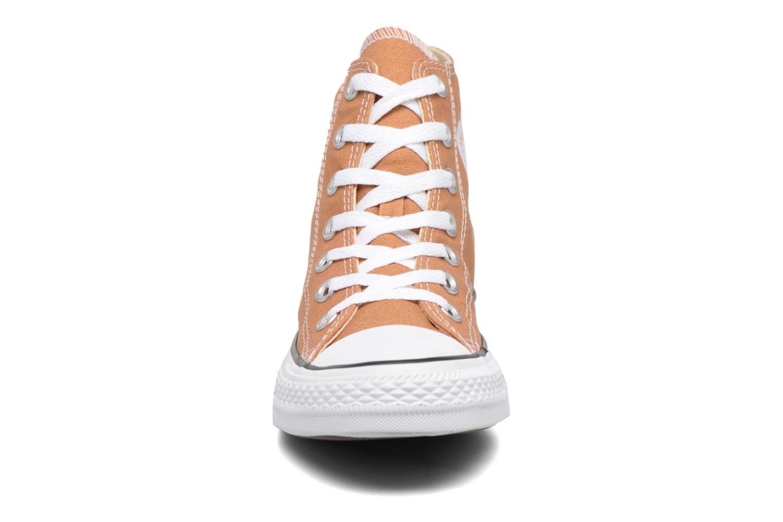 Sneaker Converse Chuck Taylor All Star Hi W braun schuhe getragen