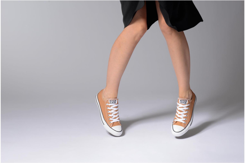Sneaker Converse Chuck Taylor All Star Ox W grau ansicht von unten / tasche getragen