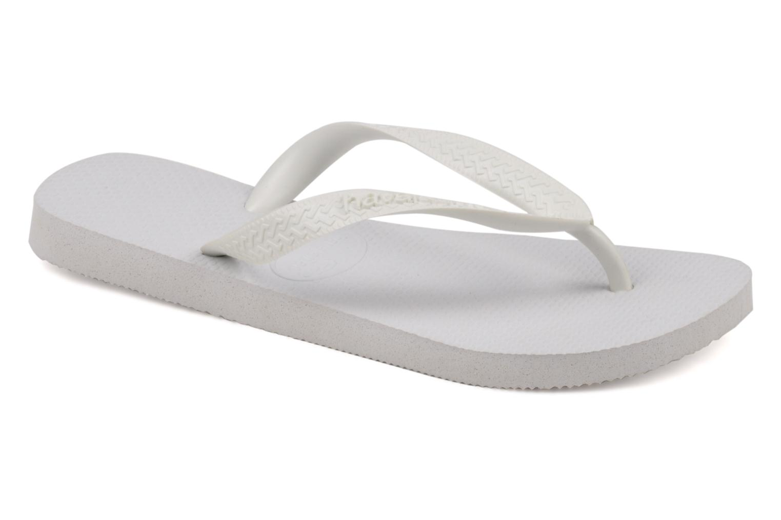 Tongs Havaianas Top F Blanc vue détail/paire