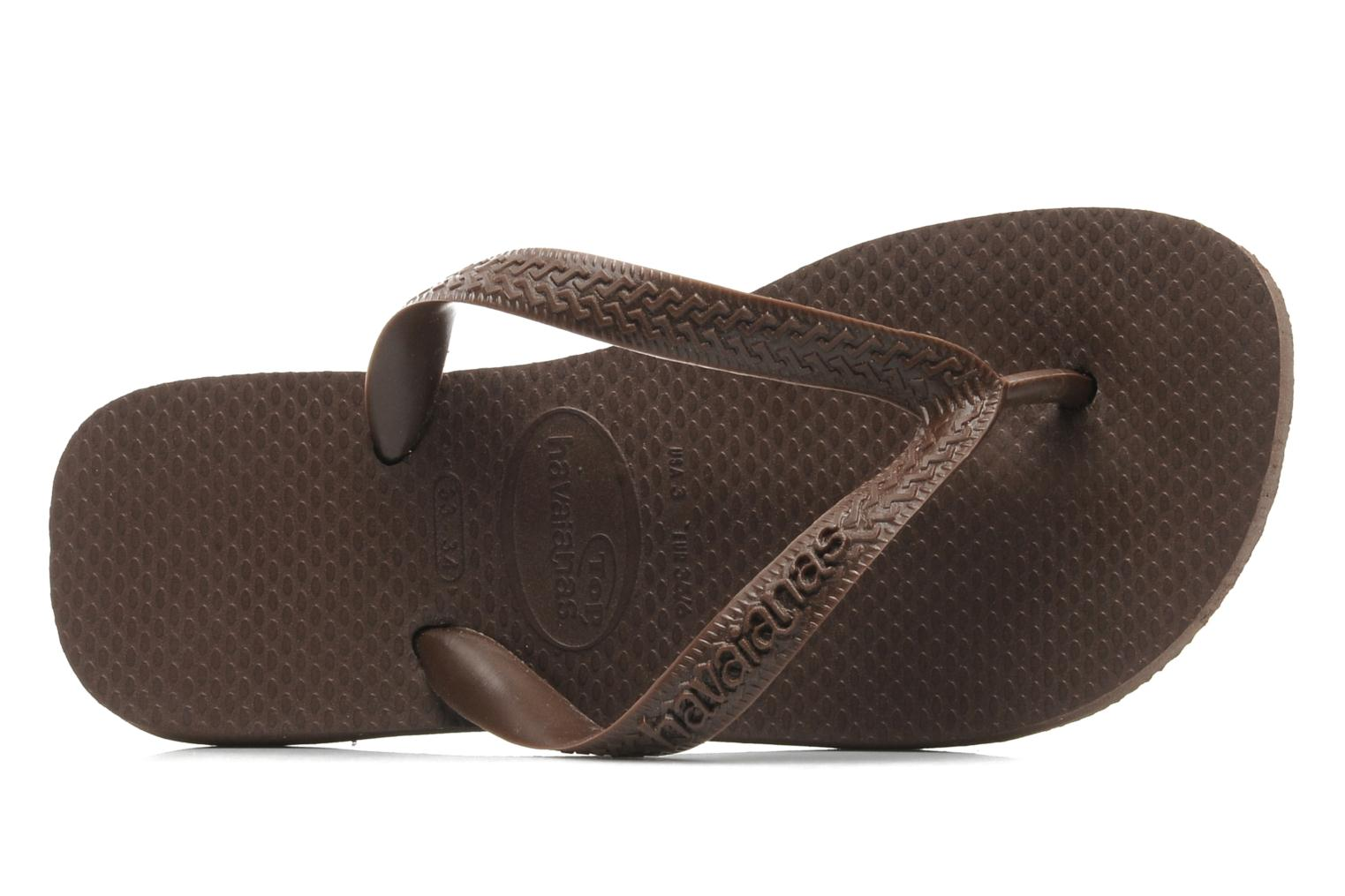 Tongs Havaianas Top F Marron vue gauche