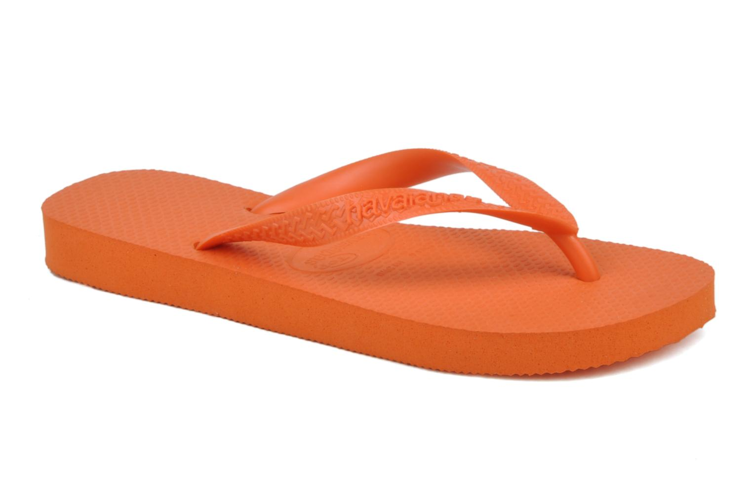 Tongs Havaianas Top F Orange vue détail/paire