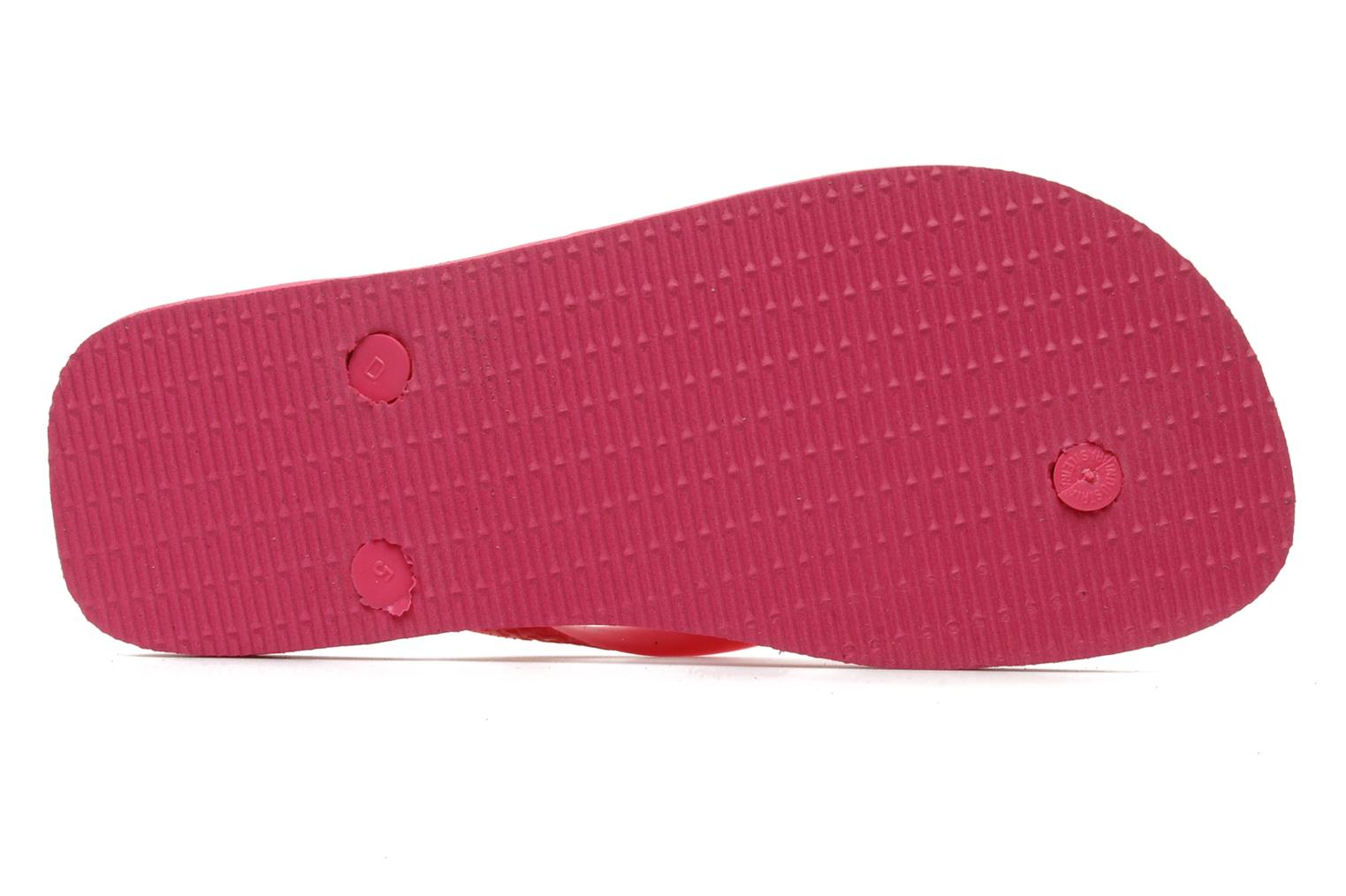 Tongs Havaianas Top F Rose vue haut