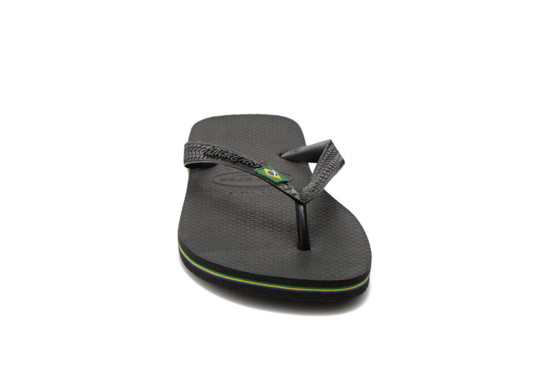 Tongs Havaianas Brazil Femme Noir vue portées chaussures