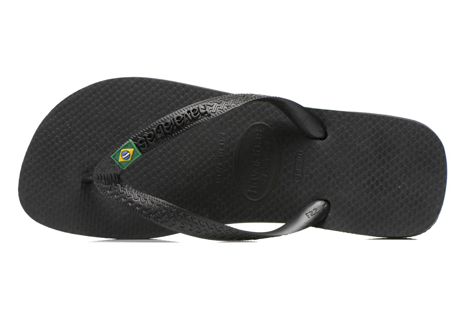 Flip flops Havaianas Brazil Femme Black view from the left